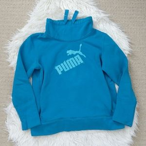 Funnel neck puma pullover with front pockets